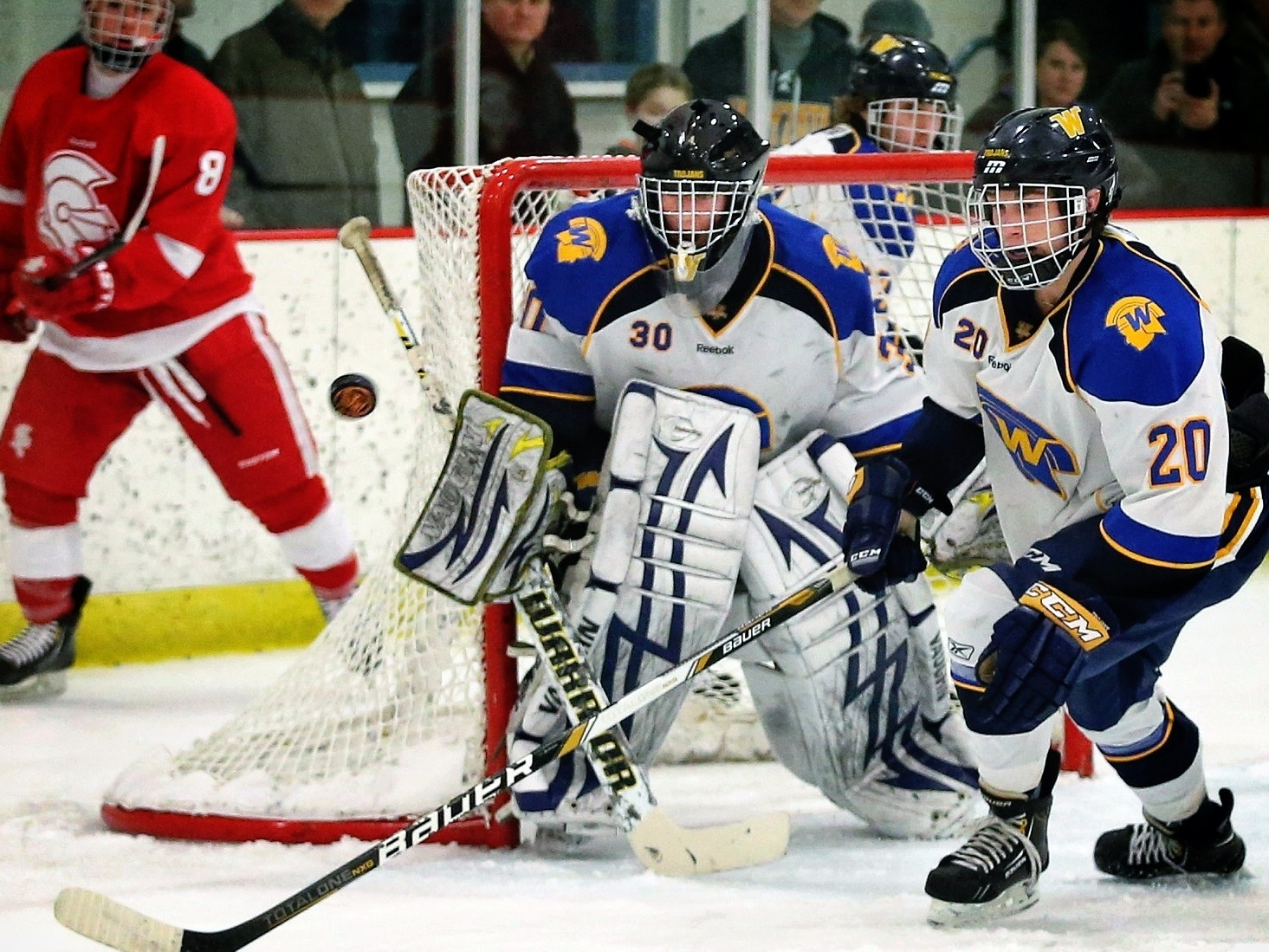 MN H.S.: Wayzata Eruption Stuns Benilde - Trojans' Big Second Period Sends Them To Rout Of Red Knights In Tournament Title Game
